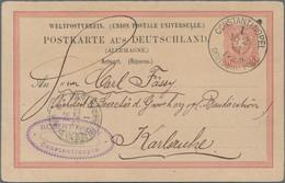 Deutsche Post In Der Türkei: 1884-1917, Sieben Interessante Belege, Dabei GA-Karte DR Als Vorläufer - Ufficio: Turchia