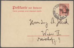 Deutsche Post In Der Türkei - Ganzsachen: 1890/1913, Partie Von 17 Gebrauchten Ganzsachen (16 Karten - Ufficio: Turchia