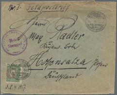 Deutsche Post In Der Türkei - Besonderheiten: 1916/1918, Dt.Militärmission/Feldpost/Bagdadbahn, Part - Ufficio: Turchia