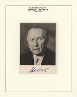 Autographen: BRD-POLITIKER, Umfangreiche Und Beeindruckende Sammlung An Unterschriften Bzw. Original - Autographs