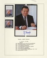 Autographen: VERTEIDIGUNGSMINISTER Der BUNDESREPUBLIK DEUTSCHLAND: Attraktive, Teils Philatelistisch - Autographs