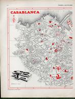 Plan De La Ville De CASABLANCA (Maroc) Partiel - Geographical Maps