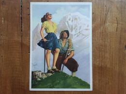 COURMAYEUR (Valle D'Aosta) - Monte Bianco - Disegnatore Boccasile - Anni '50 - Nuova + Spese Postali - Autres Villes