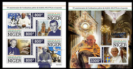 Niger  2021 75th Anniversary Of Karol Wojtylabeing Ordained As A Priest In Krakow (John Paul II). (330) OFFICIAL ISSUE - Papes