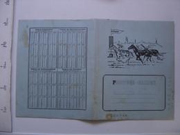 Ancien Protege Cahier ERBE Mesures Pour Les Liquides VIN LAIT BOIS - Other