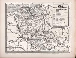 Carte Du Département Du Nord - Arrondissement De DUNKERQUE - Geographical Maps