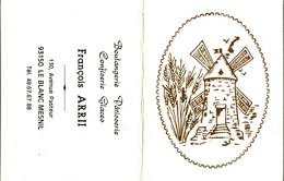 Petit Calendrier   1988  MOULIN   Boulangerie à LE BLANC MESNIL  93 - Small : 1981-90