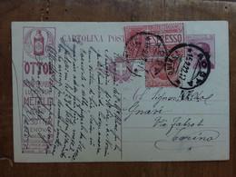 REGNO - Cartolina Postale Con Tassello Pubblicitario Ottol + Spese Postali - Marcophilie