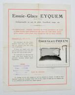 Automobilia Années 1920 : Essuie-glace EYQUEM - Accessoires Automobiles, Victor Huchon à Bruxelles - Cars