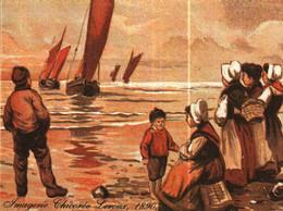 Petit Calendrier   1989   Chicorée LEROUX     Arrivée De Bateaux De Pêcheurs - Small : 1981-90