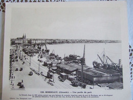 BORDEAUX / Une Partie Du Port: CLICHE PANAJOU FRERES / 30X24 CM/ N°158 - Géographie