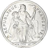 Monnaie, Nouvelle-Calédonie, 2 Francs, 1991, Paris, SUP, Aluminium, KM:14 - New Caledonia