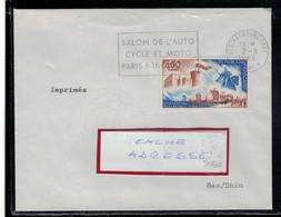 YT  1486  SSL/FR  IMPRIME/NON COLLEE OBL FL STRASBOURG 2/8/66  SALON AUTO CYCLE MOTO PARIS 1966 - 1961-....