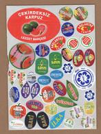AC - FRUIT LABELS Fruit Label - STICKERS LOT #123 - Fruits & Vegetables
