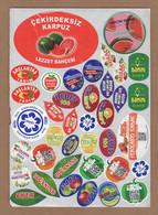 AC - FRUIT LABELS Fruit Label - STICKERS LOT #124 - Fruits & Vegetables
