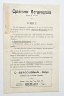 Automobilia Années 1920 : Epierreur Bergougnan - Evergem (Gand) Et Bruxelles / Auto - Cars