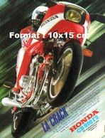 """Reproduction Photographie Publicité Ancienne """"La Crack"""" Honda CB 900 F2 - Reproductions"""