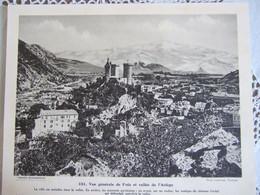 VUE GENERALE DE FOIX ET VALLEE DE L'ARIEGE/ CLICHE LABOUCHE / 30X24 CM/ N°151 - Géographie
