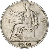 Monnaie, Italie, Vittorio Emanuele III, Lira, 1924, Rome, TTB, Nickel, KM:62 - 1 Lira