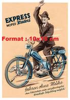 Reproduction Photographie D'un Publicité Ancienne Cyclomoteur Express Moped Radexi - Reproductions