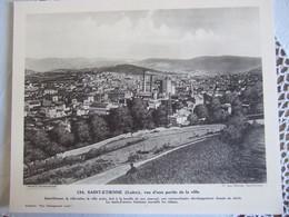 SAINT ETIENNE Vue D'une Partie De La Ville / 30X24 CM/ N°134 - Géographie