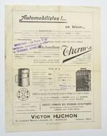 Automobilia Années 1920 : Réchauffeur Therm'x - Brevet Louis Lumière / Accessoires Automobiles Huchon à Bruxelles - Cars