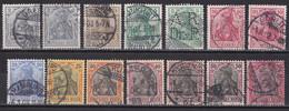 Deutsches Reich 1902 - Mi.Nr. 68 - 77 - Gestempelt Used - Usados