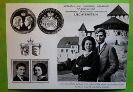 Vermahlung  Wedding Mariage Johann Adam Pius & Maria Aglae Grafin Kinski  VADUZ 30.7.1967 Furstentum LIECHTENSTEIN TTB - Royal Families