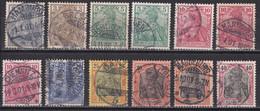 Deutsches Reich  - Lot Aus Mi.Nr. 53 - 61 - Gestempelt Used - Usados