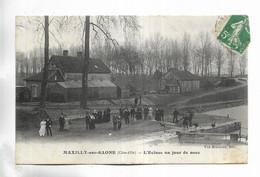 21 - MAXILLY-sur-SAÔNE ( Côte-d'Or ) - L' Ecluse Un Jour De Noce - Personnages - Other Municipalities