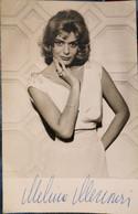 MELINA MERCOURY - Authentique Autographe Sur Photo - Autographs