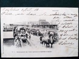 Cirque ,déchargement Des Trains Spéciaux De Barnum Et Bailey En 1902 - Circus