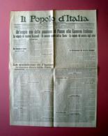 Il Popolo D'italia Anno IX N 63 17 Marzo 1922 La Questione Di Fiume Alla Camera - Unclassified