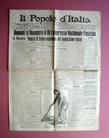Il Popolo D'Italia Anno VIII N 266 Nov.1921 Inaugurazione Congresso Naz Fascista - Unclassified
