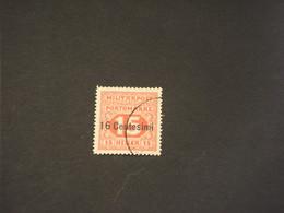OCCUPAZIONE AISTRIACA - SEGNATASSE -1918 CIFRA 16su15 - TIMBRATO/USED - Austrian Occupation