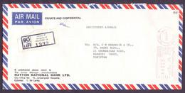 SRI LANKA Postal History Cover Meter Franking Registered Used 6.11.2003 From COLOMBO -B- - Sri Lanka (Ceylon) (1948-...)