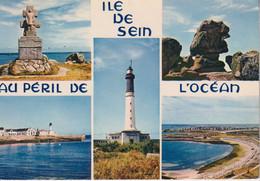 29 ILE DE SEIN Monument Des F.F.L., Sphinx, Phare Du Bourg, Vue Générale De L'île 5 Vues - Ile De Sein