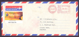 SRI LANKA Postal History Cover Meter Franking Used 27.2.2003 From COLOMBO - Sri Lanka (Ceylon) (1948-...)
