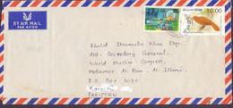 SRI LANKA Postal History Cover On Birds, Jana Saviya, Postal Used - Sri Lanka (Ceylon) (1948-...)