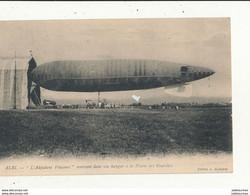 81 ALBI L ADJUDANT VINCENOT RENTRANT DANS SON HANGAR A LA PLAINE DES FOURCHES  CPA BON ETAT - Luchtschepen