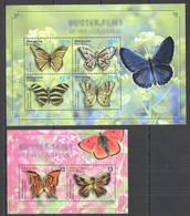 PM055 2010 BEQUIA BUTTERFLIES OF THE CARIBBEAN #665-8 MICHEL 12.5 EURO 1KB+1BL  MNH - Mariposas