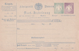 BYAERN    ENTIER POSTAL/GANZSACHE/POSTAL STATIONERY MANDAT POSTAL - Ganzsachen