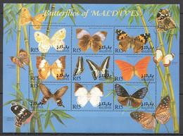 PM058 MALDIVES FLORA & FAUNA BUTTERFLIES OF MALDIVES 1SH MNH - Mariposas
