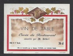 Etiquette De Vin De Table -  Restaurant De M.Gilbert  -  Poirier  à  La Flèche  (72) - Bicentenary Of The French Revolution