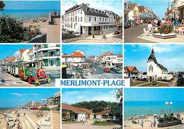 62 - Merlimont - Multivues - Petit Train Touristique - Automobiles - Plage - CPM - Voir Scans Recto-Verso - Altri Comuni