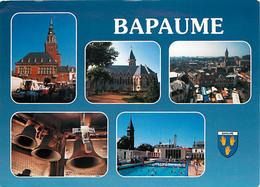 62 - Bapaume - Multivues - Piscine - Blasons - Cloches - CPM - Voir Scans Recto-Verso - Bapaume
