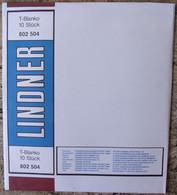 Lindner - Feuilles NEUTRES LINDNER-T REF. 802 504 P (5 Bandes) (paquet De 10) - A Nastro