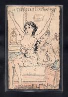 (23/09/21) THEME MILITARIA-CPA ILLUSTRATEUR SIGNEE T.MORAND - LE TERRITORIAL EN PERMISSION - MILITAIRE - FEMME SEIN NUE - Umoristiche