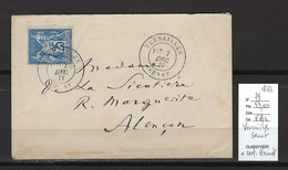 France - Lettre Versailles Sénat - 1877 - CERTIFICAT ROUMET - 1877-1920: Periodo Semi Moderno