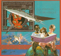 REPUBLIQUE CENTRAFRICAINE - Coopération Europe-Afrique - Bloc 1500 F - MNH - Central African Republic